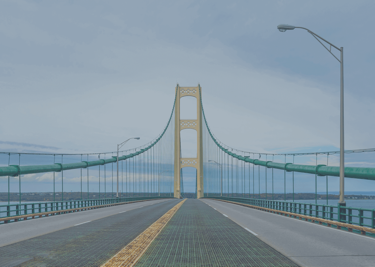 The Mackinac Bridge in Michigan